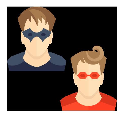 Guillaume & Brice en super héros