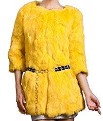 image d'un manteau de fourrure jaune comme nicky minaj
