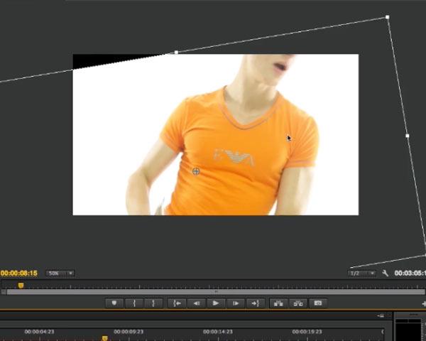 La rotation d'un métrage