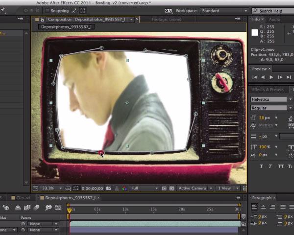 Incrustation d'une vidéo dans une TV