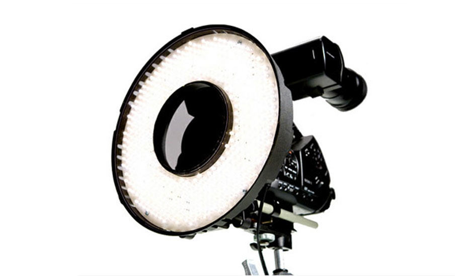 eclairage video led rond ring lite