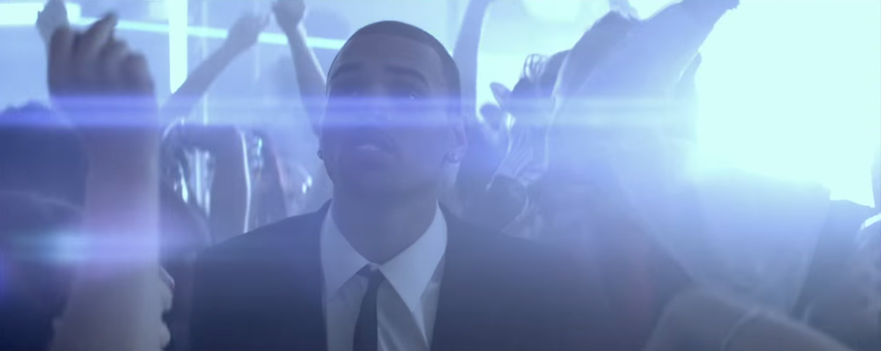 exemple de lens flare dans un clip de rap