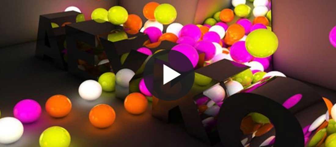Boules lumineuses cinema 4D