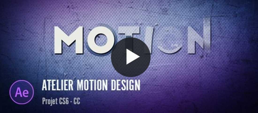 Atelier d'initiation au motion design