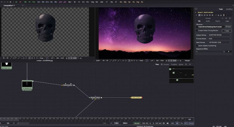 image d'illustration du tutoriel sur le compositing 2D Fusion de blackmagic