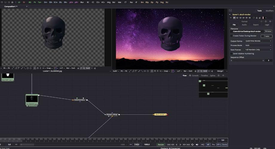 image d'illustration du tutoriel sur le compositing 2D Fusion de blackmagic