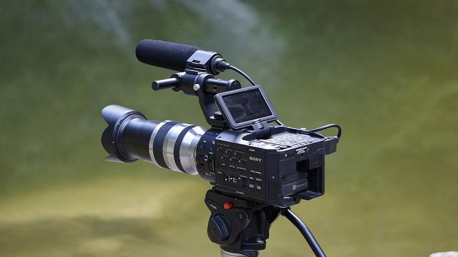 Illustration matériel vidéo film coucher de soleil