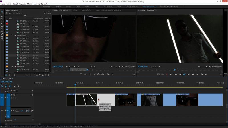 Les outils dans Premiere Pro CC