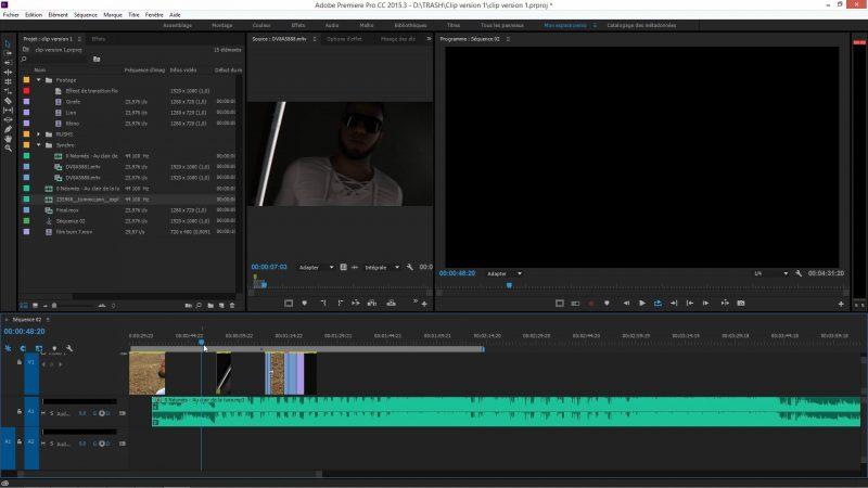 Réalisation du mixage audio