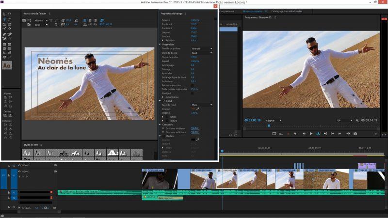 Titrage dans Premiere Pro CC