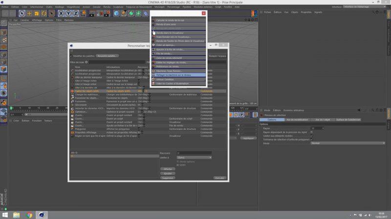 Raccourcis clavier et interface personnalisée