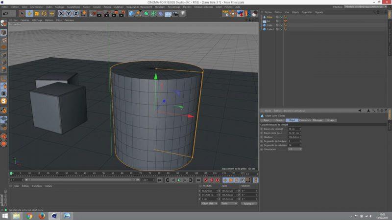 Les objets 3D paramétriques