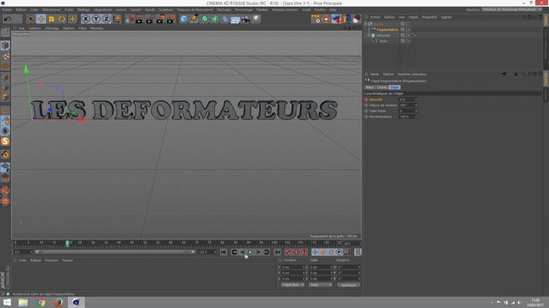 Animation d'une propriété sur un déformateur