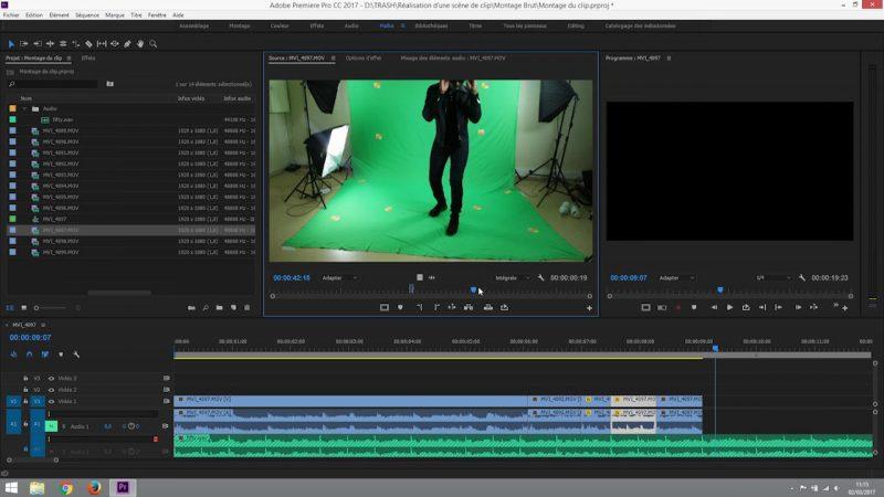 Montage du clip ralenti et accélération