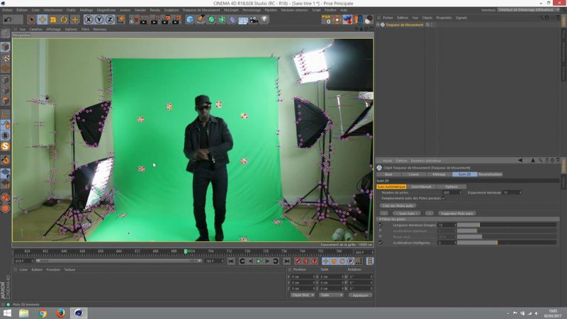 Réalisation d'un tracking 3D