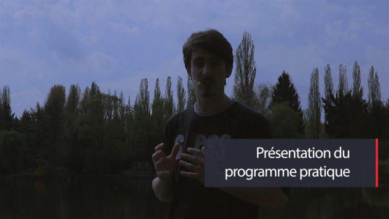 Présentation du programme pratique