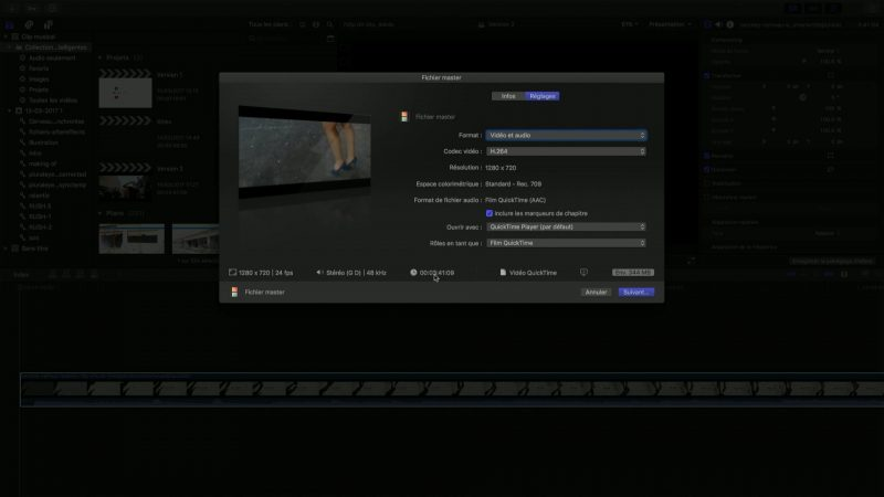 Exportation du clip monté