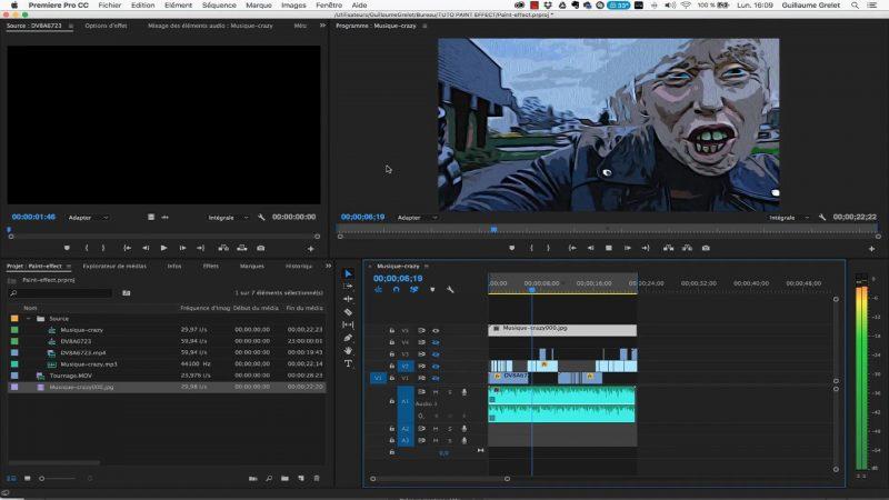 8 - Import de la suite d'image en séquence dans Premiere Pro