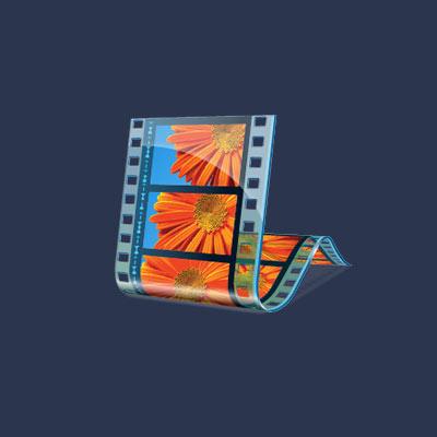 logo du logiciel de montage vidéo Windows movie maker