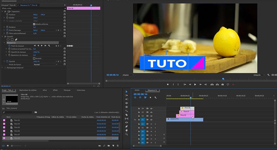 Image d'illustration du tuto Créer et animer des titres avec Premiere Pro CC