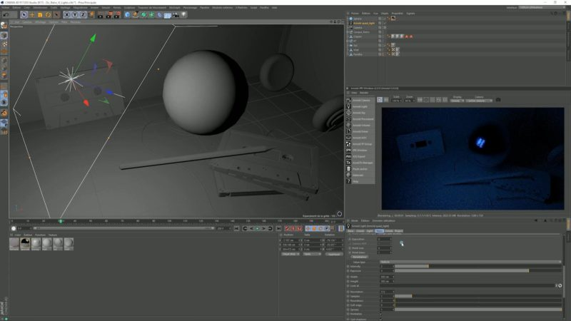 Ray depth - Transmission d'Arnold Renderer