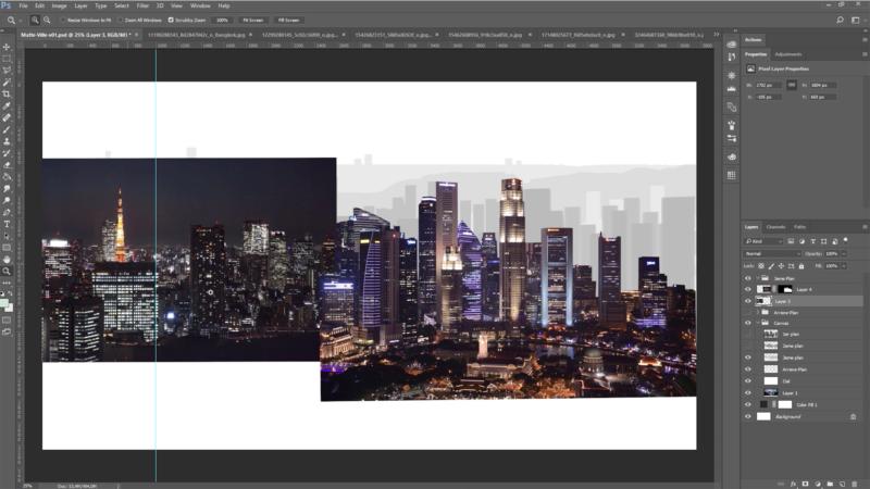 Création du 3ème plan du matte de ville
