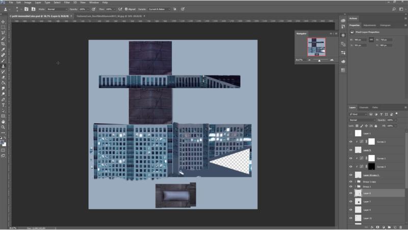 Retravail de la texture dans Photoshop