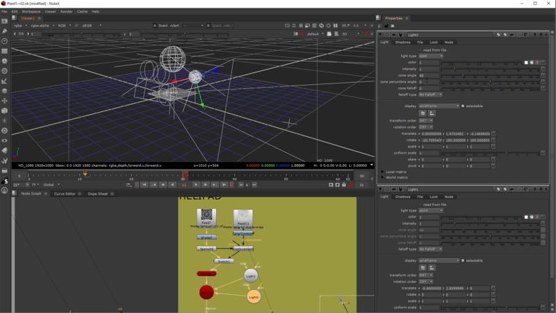 Application d'un shader de displacement sur l'helipad pour donner du volume au sol et lighting du sol (ajout de lights dans l'espace 3D)
