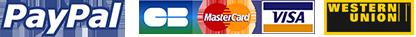 Logos de paiement sécurisé, Paypal, Mastercard et Visa